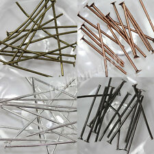 50-200X Plated Flat Head Pins Jewelry Finding Jewelry Making Beads 20/30/40/50mm