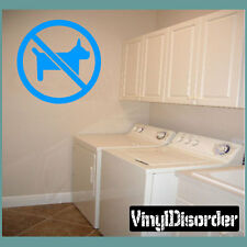 No Dogs Sign Paintball Vinyl Wall Decal or Car Sticker - MC007