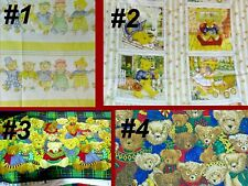 Fabric BEAR Sew Christmas Holiday Material Quilt Craft Baby Animal Cotton  BTY