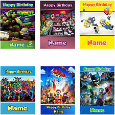 PERSONALISED CHILDREN'S BIRTHDAY CARDS FOR DAUGHTER NIECE SON BROTHER OR ANY