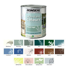 RONSEAL EXTERIOR WOOD PAINT WOODLAND TRUST GARDEN - 14 COLOURS - 750ML / 2.5L