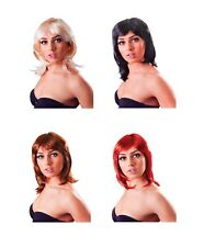 GLAMOUR LAYERED WIG BLONDE / BROWN / BLACK / RED FANCY DRESS COSTUME ACCESSORY