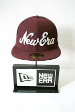 New Era 59FIFTY New Era Script White Logo Fitted Cap Burgundy Hat Baseball cap