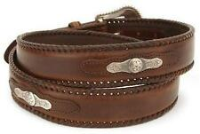 Nocona Western Mens Belt Laced Edge With Concho Brown N2475802