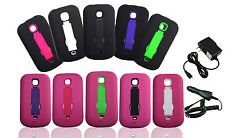 Verizon Samsung Galaxy Legend SCH-I200PP Armor Case Cover W/ Car or Wall Charger