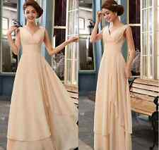 Newest bridesmaid sexy V neck gown dress/wedding bride dress/party dress