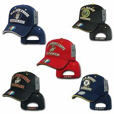 Rapid Dom US Air Force Army Marines Navy Veteran Military Baseball Hats Caps