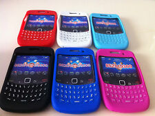 1 COQUE CASE ETUI HOUSSE GEL SILICONE QWERTY BLACKBERRY CURVE 8520 9300 KEYPAD