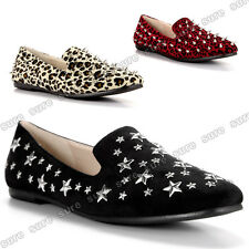 Women's Slip-Ons Shoes Ballet Flat Ballerina Loafer Casual Boat Office Size 6-9