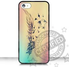 Apple iPhone 4,4S / 5,5S /5C Case Cover Nice Feather RUBBER CASE