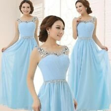 2014 New Long Formal Wedding Prom Party Bridesmaid Evening Ball Gown Dress/LF134