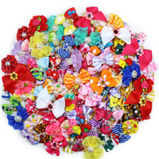 On Sales New 100pcs Pet  Dog Hair Bows  Mix Styles Pet Grooming Products