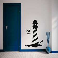 Lighthouse at the Beach Seaside Wall Sticker Bathroom Kids Bedroom Vinyl Decal