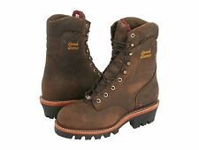 "Chippewa Men  9"" Waterproof Insulated Super Logger 25405 Steel toe work & safety"