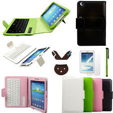 F Samsung Galaxy Tab 3 8.0 T310 T311 T3100 T3110 Bluetooth Keyboard Leather Case