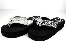 Western Cowgirl Women's Bling Summer Flip Flops Sandals EVA Diamonds High Heels
