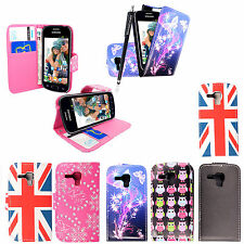 For Samsung Galaxy Trend S7560 New PU Leather Wallet Flip Case Cover+Free Stylus
