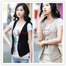 2014 New Women's Double-breasted Waistcoat Fashion Ladies Vest Waistcoat Tops