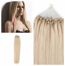 "18""20""22""24"" Easy Loop Microring Beads Tipped Real Remy Human Hair Extensions"