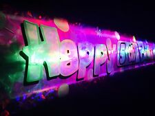 New Flashing LED Happy Birthday banner 1st-60th Party decorations light up glows