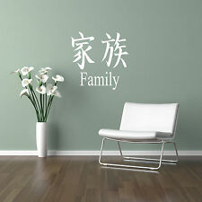 Japanese Zen Symbols inspirational Wall Sticker Bedroom Kitchen decal vinyl