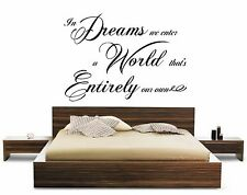 HARRY POTTER DREAMS WORLD CH ADULT QUOTE FILM BOOK WALL ART STICKER