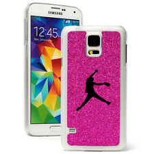 For Samsung Galaxy S3 S4 S5 Glitter Bling Hard Case Female Softball Pitcher