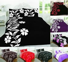 3Pcs Polycotton Duvet Quilt Cover Set With Pillow Cases Single,Double King Super