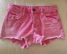 Joe's Jean's Cut Off Shorts in Brick Red