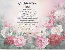 Sister Personalized Poem Gift For Birthday or Christmas