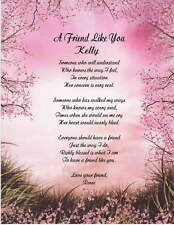 Friendship Personalized Poem For Friend Gift For Birthday or Christmas