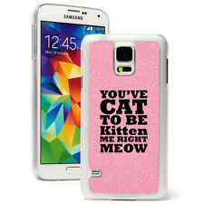 For Samsung Galaxy S3 S4 S5 Glitter Bling Case You've Cat To Be Kitten Me Meow