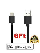 Apple MFi Certified 6ft Lightning to USB Data Sync & Charging Cable