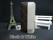 iPhone5/5S Double colors Wallet Flip Leather Cover Case with card slots/holder