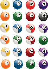 Pool Balls Edible Cake Toppers Sport Birthday Mens Party Snooker PERSONALISE IT!