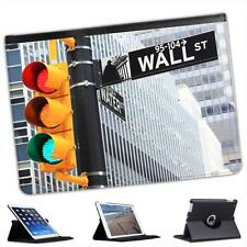 Wall Street Sign At Traffic Lights In New York Folio Leather Case For iPad Air