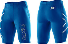2XU Men's Compression Shorts Running Exercise Training Competition MA1931b Blue
