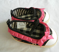 black white plaid mary jane girl toddler shoes baby fabric shoes US size3,4