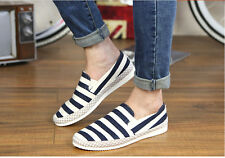 New Mens Casual Canvas Shoes Stripped Breathable Casual Shoes 40-44 EUR