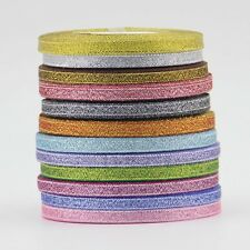 "25/250 YDS 1/4"" 6mm Colorized Metallic Taffeta Ribbon DIY Christmas ribbon PICK"