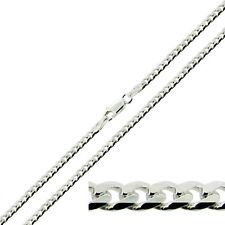 "3.2mm WIDE SOLID 925 STERLING SILVER 18 20 22 24 26 28 30"" INCH CURB LINK CHAIN"
