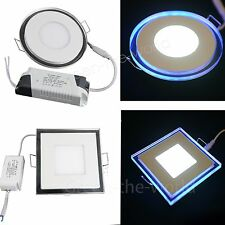 10W 15W 20W LED Panel Light Ceiling Downlight Lamp Round/Square Blue white Light