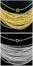 Lots 30/50/100pcs Silver/Gold plated chain finding With Clasp 43cm,2mm
