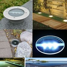 1/5/10pc Solar LED In Ground Lamp Street Outdoor Stainless Brick Lights Pathway