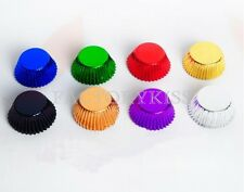 500x Colorful Foil Cupcake Liner Baking Cups Case Holiday Wedding Birthday LJN