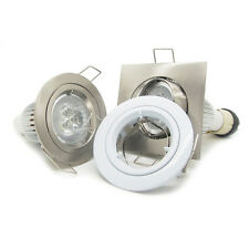 50x 9W LED GU10 Recessed Downlight gimble Kit ceiling down spot light lamp white
