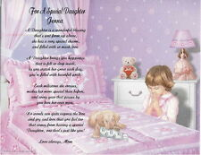 Daughter Granddaughter Personalized Poem Gift For Birthday or Christmas