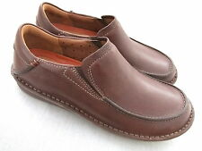 NEW CLARKS UNSTRUCTURED UN RHYTHM BROWN LEATHER SHOES LOAFERS S 7 EU 41 BNWT