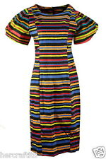 COLLECTION LONDON Womens Ladie Gaga Sleeve Cotton Satin Party Shift Dress 8 - 18