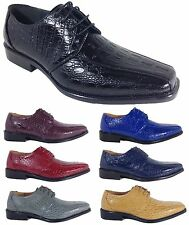 Men Dress Shoes Crocodile Print Oxfords Formal Church Pointy Black Brown Ex09